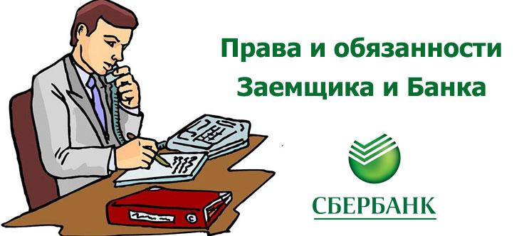 Потребительское кредитование Сбербанка. Права и обязанности Заёмщика и Банка.