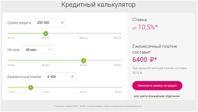Совкомбанк кредит наличными условия кредитования калькулятор спб