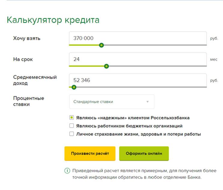 уральский банк калькулятор кредита