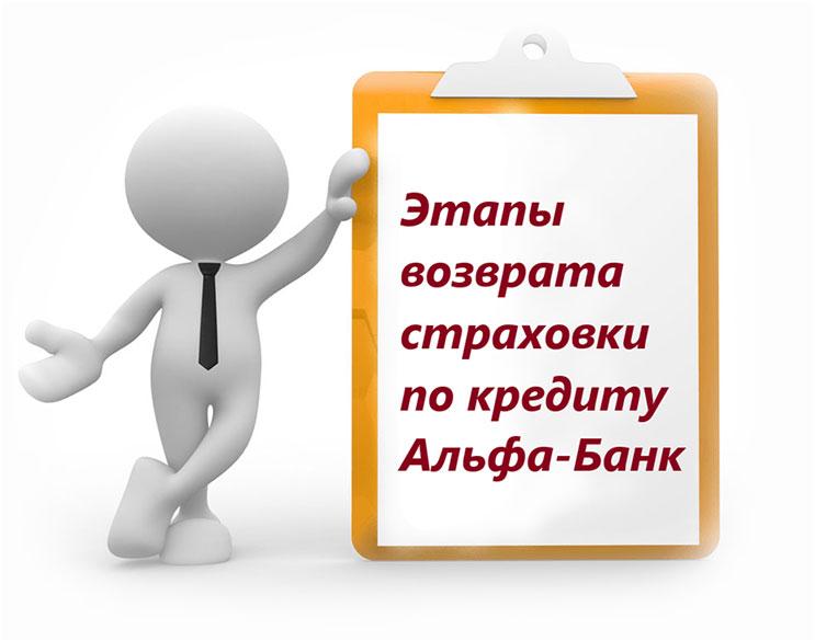 Как получить страховку после выплаты кредита в альфа банке москвы на сегодня